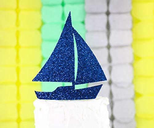 Zeilboot Cake Topper, Nautische thema verjaardagsfeestje, Zeilfeest Decor, Smash Cake Topper, Nautical Verjaardagsfeestje, Zeilpartij Decor