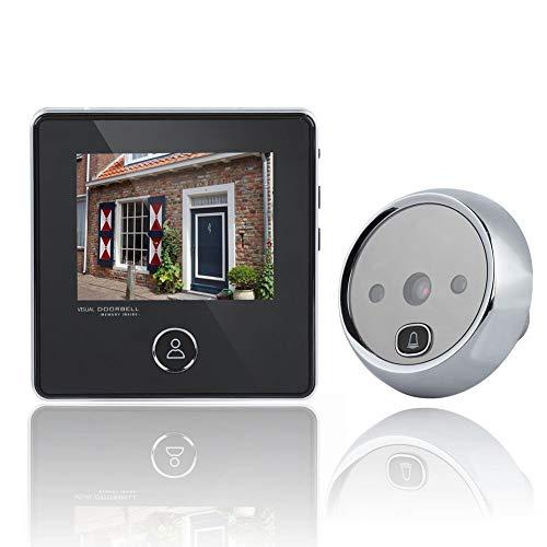 Denash Campanello visivo Digitale LCD da 3,0 Pollici, 3 megapixel 120 Gradi Monitor HD spioncino Telecamera per Visione Notturna Porta Carillon Carillon per Sicurezza Domestica