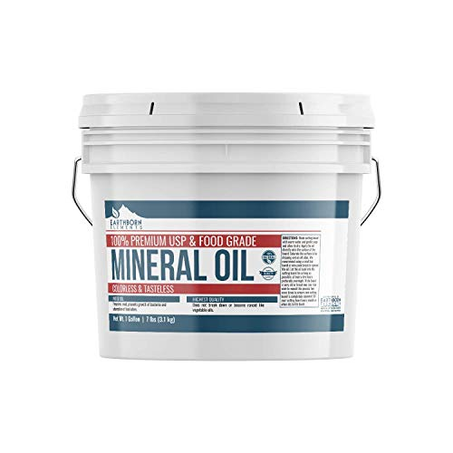 Mineral Oil 1 Gallon by Earthborn Elements Resealable Bucket Food amp USP Grade For Cutting Boards Butcher Blocks Counter Tops Wooden Utensil