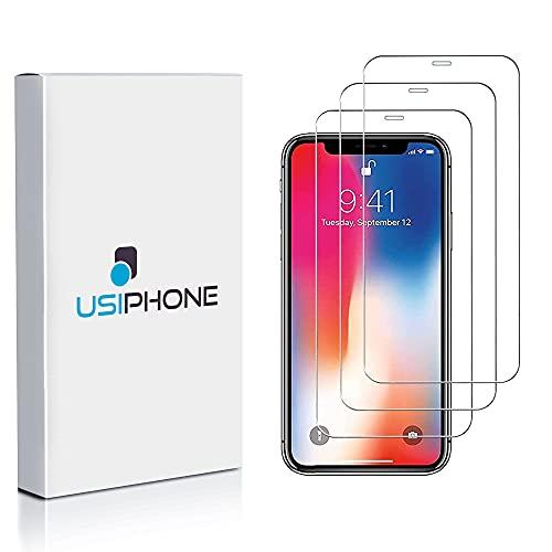 """Verre Trempé pour iPhone X/XS & iPhone 11 Pro (3 Pack) – Film Protection écran Compatible avec Apple - sans Bulles d'air, Anti-Rayures, Haute Définition (5.8"""") – 0.33mm, Dureté 9H – Transparent"""