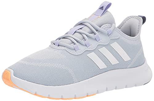 adidas Women's Vario Sport Running Shoe, Halo Blue/White/Violet Tone, 8.5
