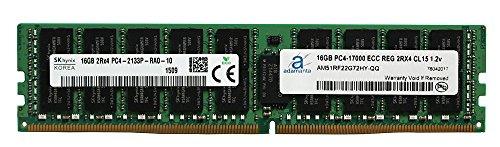 Hynix - Memoria para servidores Dell Poweredge, Dell Precision y HP Proliant (16 GB, DDR4, 2133 MHz, PC4-17000, ECC, chip registrado 2Rx4, CL15, 1,2 V, RAM Adamanta)