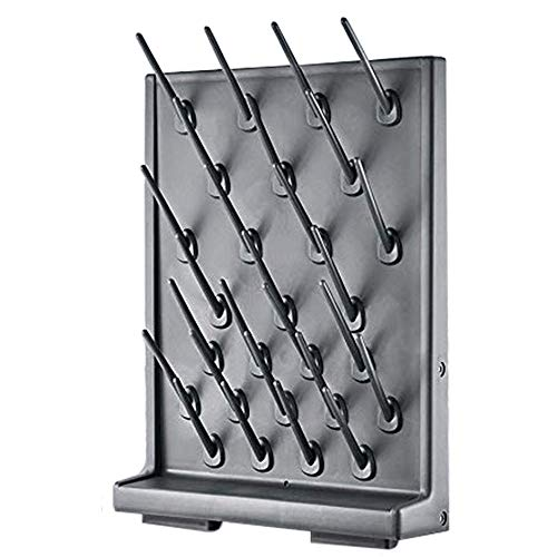 YTFLOT Drying Rack 27 Pegs Lab Supply Pegboard Bench-top/Wall-Mount Laboratory Glassware 27 Detachable PegsLab Drying Draining Rack Cleaning Equipment Black