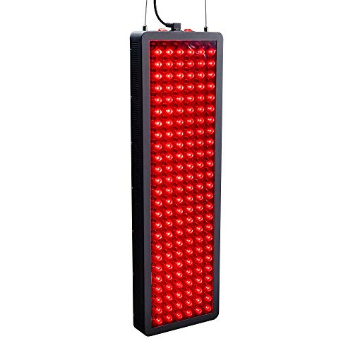 Hooga Red Light Therapy Device, Red Near Infrared 660nm 850nm, 300 Clinical Grade LEDs, High Power Output Panel. Hanging Kit. Improve Sleep, Pain Relief, Skin Health, Anti-Aging, Energy, Recovery