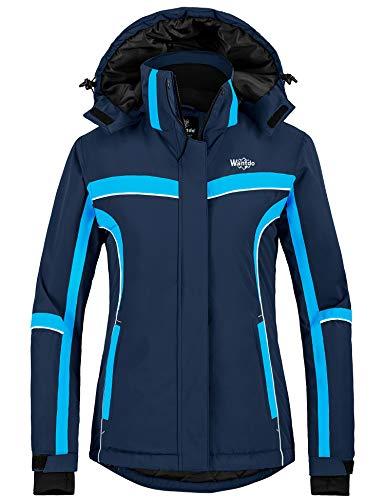Wantdo Women's Mountain Waterproof Ski Snowboard Jacket Rain Jacket Parka Navy XL