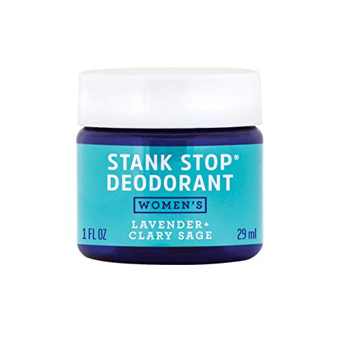FATCO Stank Stop All Natural Deodorant Cream in a Jar with Tallow and Organic Coconut Oil – Lavender + Sage (1 oz)