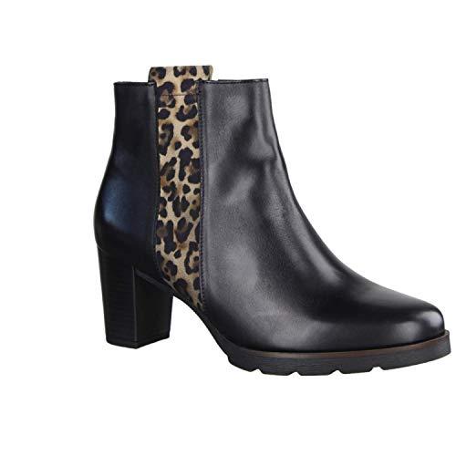 GABOR 3554122 Enkellaarzen/Low boots femmes Zwart/Luipaard Enkellaarzen