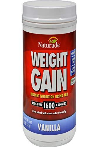 Weight Gain Powder, Vanilla - 40.6 oz (2.9 lb / 1.2 kg) by Naturade