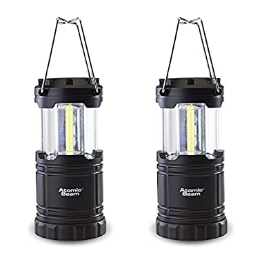 Atomic Beam Lantern by Bulbhead, Bright 360-Degree, Collapsible LED Lantern for Emergencies & Camping (2 Pack)
