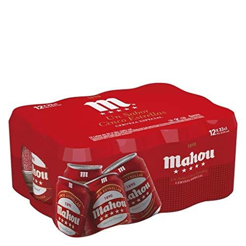 Mahou - 5 Estrellas - Cerveza Dorada Lager, 5.5% de...