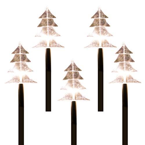 Lámpara de jardín, LED, toma de tierra, árbol de Navidad, copo de nieve, patio al aire libre, iluminación de Navidad, batería 3A (no incluida) (copo de nieve)