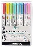 Zebra Pen Mildliner Double Ended Highlighter Set, Broad and Fine...
