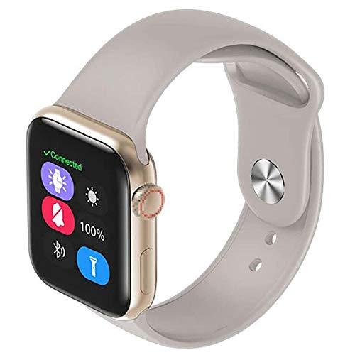 OOFAY Smartwatch, Smart-Uhren, 1,3-Zoll-LCD-Display Wasserdicht Intelligente Uhren Für Männer Gesundheit Übungs-Uhr-Support-Touch-Steuerung Mit Schlaf-Monitor Pedometer,B