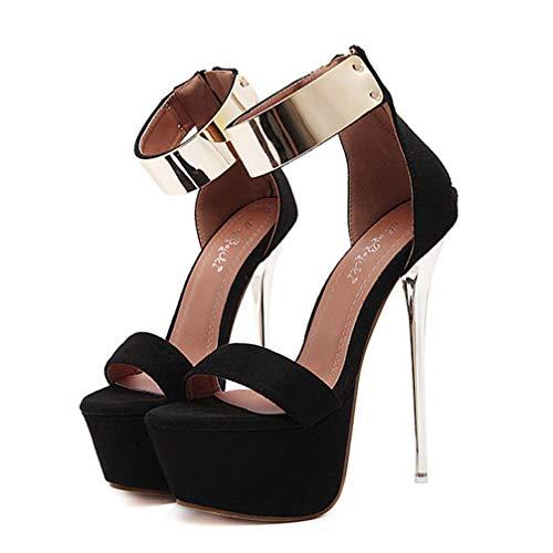 Holibanna Scarpe col Tacco Donna 16CM Tacco a Spillo Alto Scarpa Donna Cinturino Caviglia...