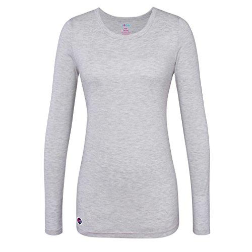 Sivvan Women#039s Comfort Long Sleeve TShirt/Underscrub Tee  S8500  Marl Gray  S