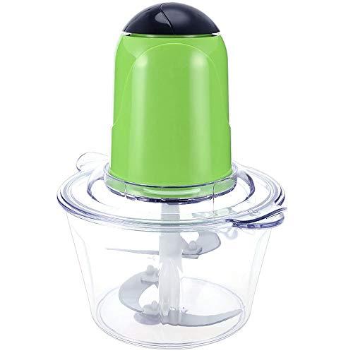 TOOGOO Picadora De Carne Eléctrica Multifuncional para El Hogar 4 Cuchillas De Acero Inoxidable Picadora Casero del Procesador De Alimentos Licuadora De Frutas Verde