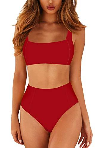 Viottiset Damen Oberteil Push Up Bikini Zweiteilige Gepolstert Badeanzug