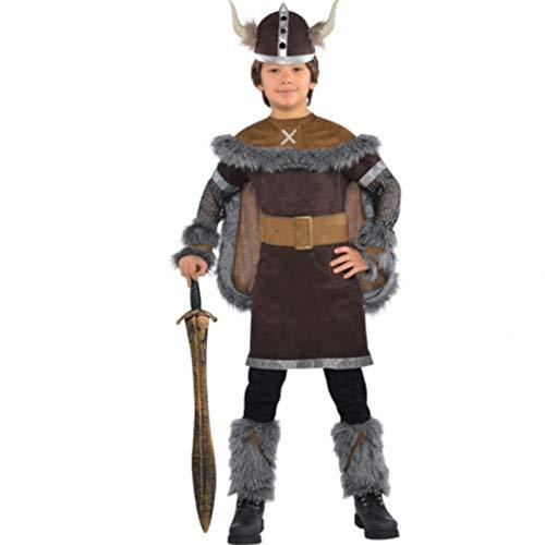 Disfraz de guerrero vikingo para niños y adolescentes en varias tallas