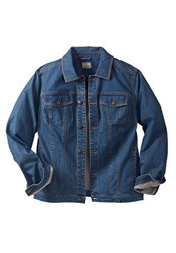 Liberty Blues Men's Big & Tall Denim Jacket - Big - 5XL, Blue Wash