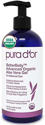PURA D OR BetterBelly Advanced Organic Aloe Vera Gel 16 fl oz 473 mL For Maternal Care Hydrating product image