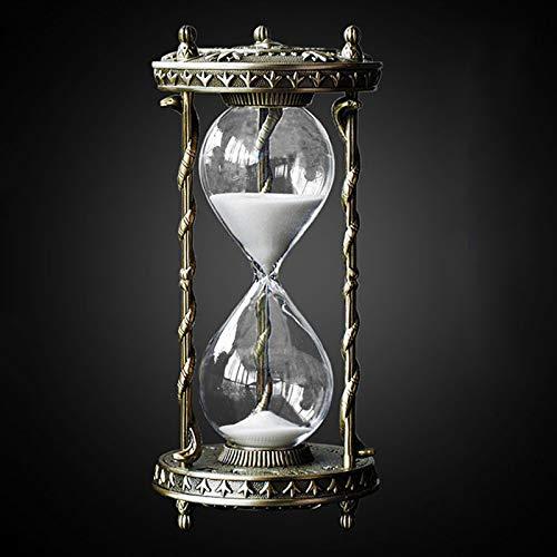 ZXZH Antike Sanduhr Zeitmesser Stundenglas 30 Minuten Metall-Sanduhr Vintage Messing lila Sanduhr Zeitmesser Glas Timer Für Home - Office-Schreibtisch Vintage Sanduhr