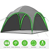 Maxmass Family Camping Tent, Lightweight Backpacking Dome Tent Event Shelter with 2 Removable Wall & Carry Bag for Outdoor Picnic Beach Hiking Fishing