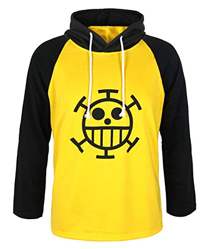 CoolChange One P. Trafalgar Law Kapuzen Shirt mit Jolly Roger der Heart Piratenbande | Größe: L
