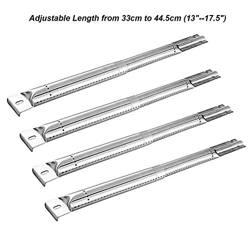 Wondjiont Gasgrill Brenner Verstellbarer für die Meisten Modell Gas Grills, 33 cm bis 44,5 cm (13