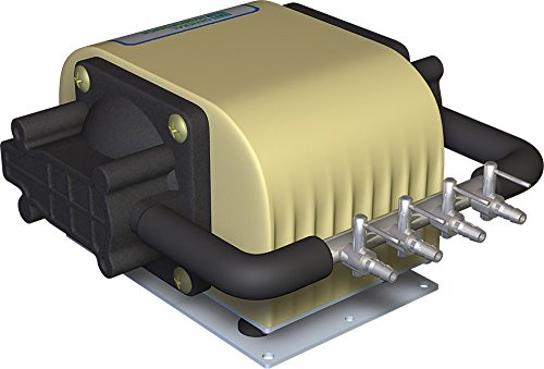 General Hydroponics HGC728040 Dual Diaphragm Air Pump 320 GPH 4 Outlet