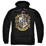 Popfunk Harry Potter Hufflepuff Logo Pull-Over Hoodie Sweatshirt & Stickers (Large)