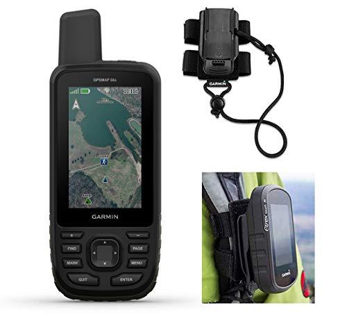 Garmin GPSMAP 66s Hiking GPS Bundle | +Garmin GPS Backpack Tether | Multisatellite & Sensors | Military Hiking Handheld