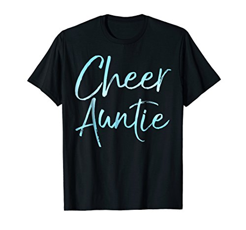 Cheer Auntie Shirt Cute Cheerleader Aunt Gift for Women