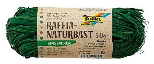 Raphia naturel - VERT FONCE, 50 g