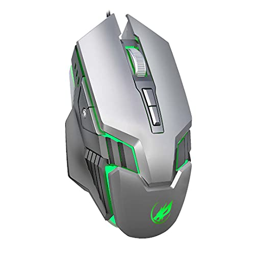 Q9 7D Wireless Gaming Mouse LED Computer Mouse Colorful LED Gaming Accessories (Silvery Gray)
