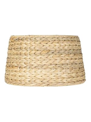 Upgradelights All Natural Woven Seagrass 19 Inch Floor or Table Lampshade Replacement 15x19x12