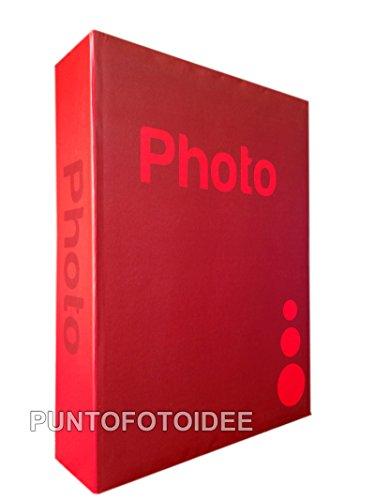 Einsteckalbum für 13x19 cm, 300 Fotos, mit Beschreibungsmöglichkeit, Rot