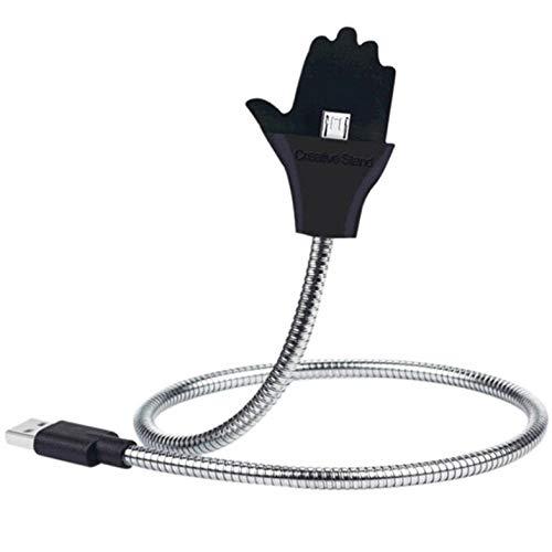 Soporte de cable de carga flexible, soporte de palma, línea de datos, interfaz de música, soporte de cable de carga flexible, micro línea de datos USB - blanco tipo C