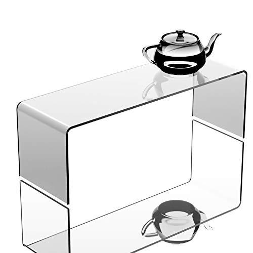 Soporte expositor de plástico acrílico transparente - Pedestal elevador para exposiciones - Hoverstand., 30cm*10cm*10cm