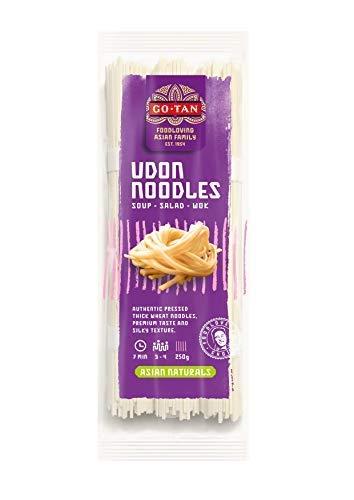 Go-Tan Udon Noodles Pasta Tipica Giapponese con Farina di Grano Tenero - 1 x 250 Grammi