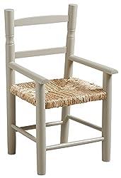 Petite chaise enfant en bois et roseau