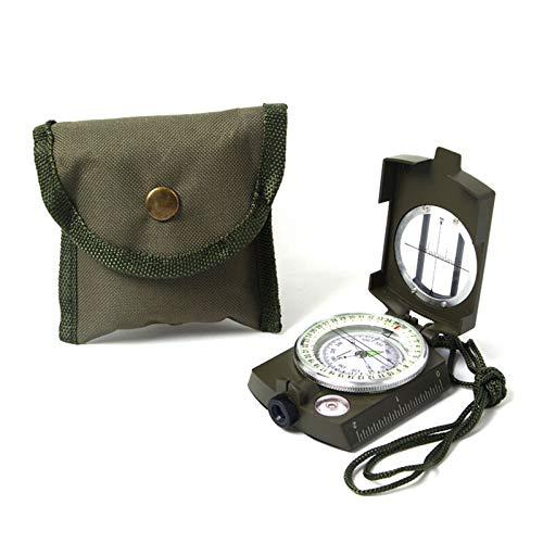 Huachaoxiang Multifunktionaler Kompass, Einfaches Und Genaues Aus Aluminiumlegierung Mit Kartenmesser Entfernungsrechner Ideal Für Wandern Camping Im Freien,Grün