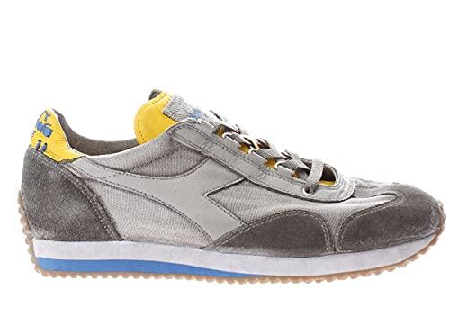 Diadora Zapatillas Lifestyle Heritage Equipe H Dirty Stone Wash Evo para hombre y mujer Gris Size: 44 EU