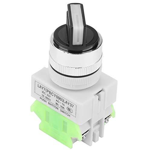 Aeloa Interruptor selector de 3 Posiciones, selector mantenido, Interruptor Giratorio de autobloqueo Compatible con LAY37-20X / 31