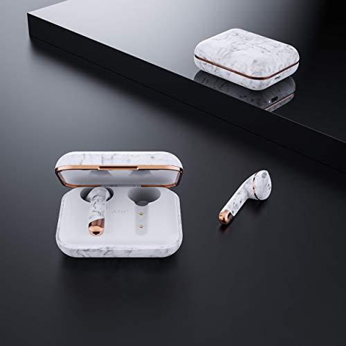 HAPPYPLUGSインナーイヤー型完全ワイヤレスイヤホンAIR1超軽量/14時間再生/Bluetooth5.0対応/通話可能ホワイトマーブル【国内正規品】