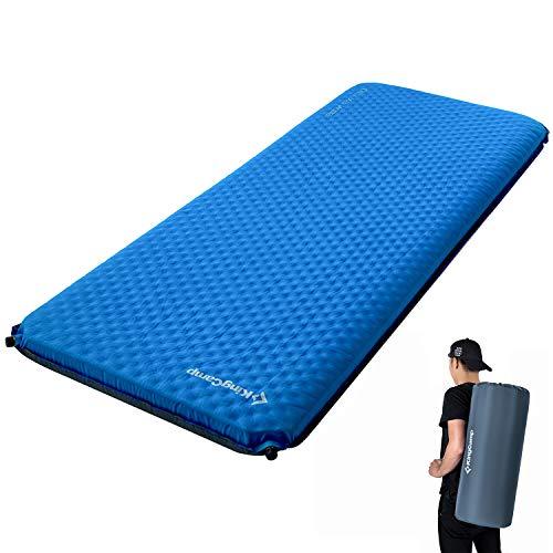 KingCamp Deluxe Camping Isomatte Selbstaufblasend für 1 oder 2 Personen 7.5cm / 10cm dick
