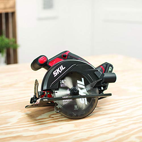 SKIL 20V 6-1/2 Inch Cordless Circular Saw, Includes 2.0Ah PWRCore 20 Lithium Battery and Charger - CR540602