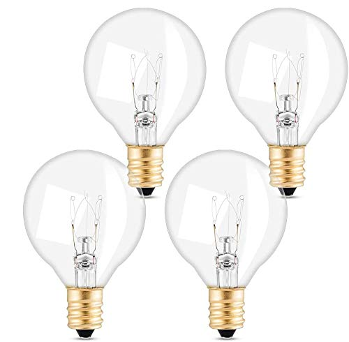 Elegear G40 Ersatzbirnen für Lichterketten, 7W mit Schnur-Licht-E12-Sockel, warmes Weiß IP65 220-240V geeignet für Elegear Glühbirne Lichterkette