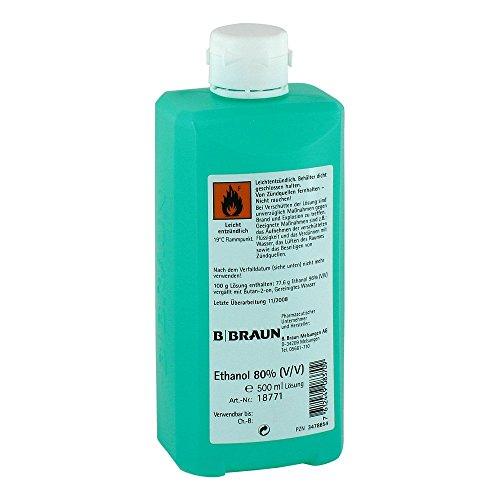 Ethanol 80{e666b6ef9b1d10e79bdaaf94a8e31605a68db3c13cce243cce553bf637d131a4} V/v Hyg.hände 500 ml