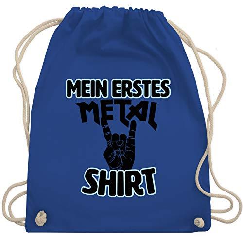 Statement Sprüche Kinder - Mein erstes Metal Shirt schwarz - Unisize - Royalblau - WM110 - WM110 - Turnbeutel und Stoffbeutel aus Baumwolle