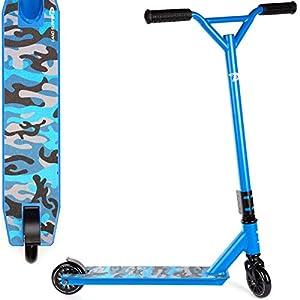 Land Surfer- Patinete de trucos y saltos, Azul Camuflaje